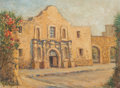 Fine Art - Painting, American:Contemporary   (1950 to present)  , Rolla Sims Taylor (American, 1872-1970). The Alamo. Oil oncanvasboard. 12 x 16 inches (30.5 x 40.6 cm). Signed lower le...