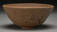 Harding Black (American, 1912-2004) Bowl, 1974 Stoneware with lava glaze 3-1/2 inches high x 8 in