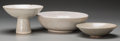 Ceramics & Porcelain, American:Contemporary   (1950 to present)  , Harding Black (American, 1912-2004). Three Crackle Glazed Bowls, circa 1972 & 1989. Stoneware and porcelain with white a... (Total: 3 Items)