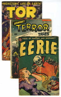 Miscellaneous Pre-Code Horror Group (Various Publishers, 1953-55) Condition: Average VG. Includes Eerie #17, Beware Te...