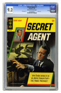 Silver Age (1956-1969):Adventure, Secret Agent #1 File Copy (Gold Key, 1966) CGC NM- 9.2 Off-white to white pages. Patrick McGoohan photo front and back cover...