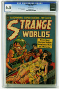 Golden Age (1938-1955):Horror, Strange Worlds #5 (Avon, 1951) CGC FN+ 6.5 Off-white pages. Classicbondage cover by Wally Wood. Art by Wood and Joe Orlando...