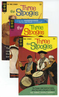 Silver Age (1956-1969):Humor, Three Stooges File Copies Box Lot (Gold Key and Dell, 1959-72) Condition: FN/VF. This full short box of Western Publishing F...