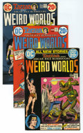 Bronze Age (1970-1979):Miscellaneous, Weird Worlds #1-9 Group (DC, 1972-74) Condition: Average VF.Includes five copies each of issues #1 (John Carter of Mars and...(Total: 45)