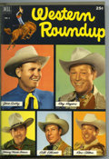 Golden Age (1938-1955):Miscellaneous, Dell Giant Comics - Western Roundup #1-4 Bound Volume (Dell, 1952-53). These are Western Publishing file copies that have be...
