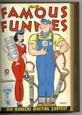 Golden Age (1938-1955):Miscellaneous, Famous Funnies #109-120 Bound Volume (Eastern Color, 1943-44). Western Publishing file copies of Famous Funnies #109, 11...