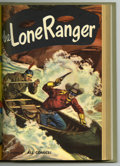Golden Age (1938-1955):Western, The Lone Ranger #25-36 Bound Volume (Dell, 1950-51). These areWestern Publishing file copies that have been trimmed and bou...