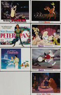 "Movie Posters:Animated, Disney Animation Lot (Buena Vista, R-1974). Lobby Cards (7) (11"" X14""). The seven cards in this lot include some of Disney'...(Total: 7 Items)"