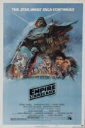 "Movie Posters:Science Fiction, The Empire Strikes Back (20th Century Fox, 1980). One Sheet (27"" X41""). Style ""B."" Epic space battles and a hint of romance..."