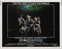 "Ghostbusters (Columbia, 1984). Half Sheet (22"" X 28""). The Stay Puft Marshmallow Man will never be the same! D..."