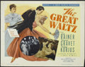 "Movie Posters:Drama, The Great Waltz (MGM, R-1962). Half Sheet (22"" X 28""). Famous composer Johann Strauss (Fernand Gravet) is married to Poldi V..."