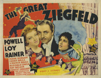 """The Great Ziegfeld (MGM, 1936). Title Lobby Card (11"""" X 14""""). This was MGM's star studded biopic of flamboyant..."""