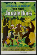 "Movie Posters:Animated, The Jungle Book (Buena Vista, 1967). One Sheet (27"" X 41""). This charming Disney classic was the final animated feature prod..."