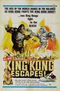 "Movie Posters:Science Fiction, King Kong Escapes (Toho, 1967). One Sheet (27"" X 41""). Who betterto fight King Kong than, well, King Kong? The giant primat..."