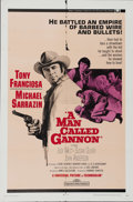 "Movie Posters:Western, A Man Called Gannon (Universal, 1968). One Sheet (27"" X 41""). Anthony Franciosa is a cowboy whose young protege' (Michael Sa..."