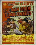 """Movie Posters:Western, The Man from Tumbleweeds (Astor, R-1949). Poster (41"""" X 54""""). Wild Bill Saunders (Wild Bill Elliott) is recruited by the gov..."""