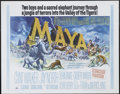 """Movie Posters:Adventure, Maya (MGM, 1966). Half Sheet (22"""" X 28""""). Clint Walker and JayNorth star in this jungle adventure about two boys' struggle ..."""