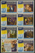 "Movie Posters:Adventure, Plymouth Adventure (MGM, 1952). Lobby Card Set of 8 (11"" X 14"").This highly fictionalized tale of the Mayflower, bringing c...(Total: 8 Items)"