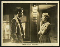 "Psycho (Paramount, 1960). Black and White Still (11"" X 14""). Anthony Perkins and Janet Leigh star in the class..."