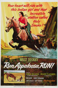 "Movie Posters:Children's, Run, Appaloosa, Run! (Buena Vista, 1966). One Sheet (27"" X 41""). This movie, originally aired on ""The Wonderful World of Dis..."