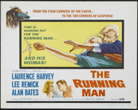 "The Running Man (Columbia, 1963). Half Sheet (22"" X 28""). Having faked his own death in order to commit an ins..."