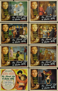 """The Secret Life of Walter Mitty (RKO, 1947). Lobby Card Set of 8 (11"""" X 14""""). James Thurber wasn't too happy w..."""