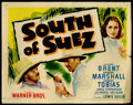 "Movie Posters:Mystery, South of Suez (Warner Brothers, 1940). Title Lobby Card (11"" X14""). George Brent, Brenda Marshall and George Tobias star in..."