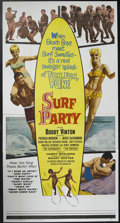 "Movie Posters:Musical, Surf Party (20th Century Fox, 1964). Three Sheet (41"" X 81""). Bobby Vinton (best known as the recording artist of hits like ..."