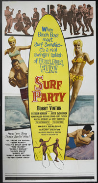 "Surf Party (20th Century Fox, 1964). Three Sheet (41"" X 81""). Bobby Vinton (best known as the recording artist..."