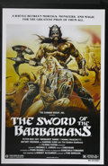 "Movie Posters:Adventure, Sword of the Barbarians (Cannon, R-1983). One Sheet (27"" X 41"").Conan does Rome! This Italian barbarian re-hash stars Pietr..."
