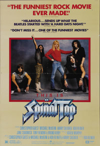 """This is Spinal Tap (Embassy Pictures, 1984). One Sheet (27"""" X 41""""). Spinal Tap is a mostly fictional heavy met..."""
