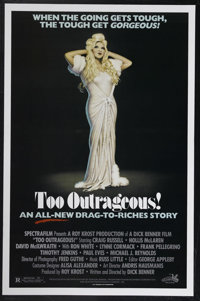 """Too Outrageous! (Spectrafilm, 1987). One Sheet (27"""" X 41""""). Filmed in Canada, this sequel to Outrageous""""..."""