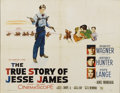 """Movie Posters:Western, The True Story of Jesse James (20th Century Fox, 1957). Half Sheet (22"""" X 28""""). Young Robert Wagner stars in the title role...."""