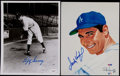 Baseball Collectibles:Uniforms, Sandy Koufax and Lefty Gomez Signed Photographs (2)....