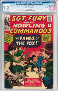 Silver Age (1956-1969):War, Sgt. Fury and His Howling Commandos #6 UK Edition (Marvel, 1964) CGC NM- 9.2 Off-white to white pages....