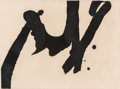 Prints:American, Robert Motherwell (1915-1991). Calligraphic Study IV, 1976.Lift-ground etching and aquatint on HMP handmade paper. 8-3/...