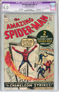 Silver Age (1956-1969):Superhero, The Amazing Spider-Man #1 UK Edition (Marvel, 1963) CGC Apparent VG4.0 Slight (B-1) Off-white to white pages....