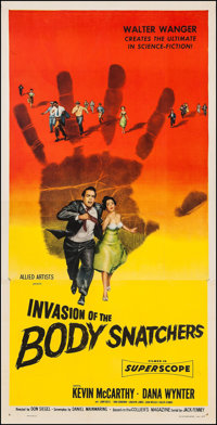 "Invasion of the Body Snatchers (Allied Artists, 1956). Three Sheet (41"" X 80.5""). Science Fiction"