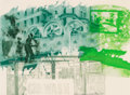 Post-War & Contemporary:Pop, Robert Rauschenberg (1925-2008). Rotary Drive, fromGround Rules, 1997. Intaglio in colors with photogravure onFabr...