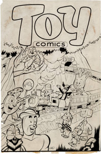 Toy Comics Complete Unpublished Comic Printer's Proof (c. 1940s).... (Total: 43 Items)