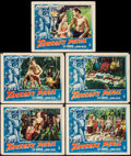 "Movie Posters:Adventure, Tarzan's Peril (RKO, 1951). Lobby Cards (5) (11"" X 14"").Adventure.. ... (Total: 5 Items)"