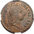 Colonials, 1723 PENNY Rosa Americana Penny MS63 Brown NGC. M. 2.7-Eb.3, W-1278, R.4....