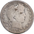Barber Quarters, 1901-S 25C Good 4 PCGS....