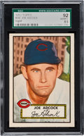 Baseball Cards:Singles (1950-1959), 1952 Topps Joe Adcock #347 SGC 92 NM/MT+ 8.5 - Pop One, NoneHigher. ...