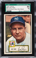 Baseball Cards:Singles (1950-1959), 1952 Topps Joe Page (Error Bio, Black Back) #48 SGC 84 NM 7....