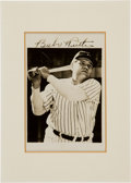 Baseball Collectibles:Photos, 1940's Babe Ruth Signed Photograph....