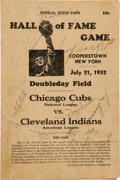 Baseball Collectibles:Programs, 1952 Hall of Fame Game Multi Signed Program with Dean and Young....