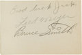 Football Collectibles:Others, Circa 1941 Bruce Smith Signed College All-Stars Autograph Book. ...