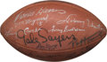 Football Collectibles:Balls, 1990's Football Hall of Famers Multi Signed Football. ...