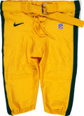 Football Collectibles:Others, 1999 Brett Favre Game Worn Green Bay Packers Pants. ...